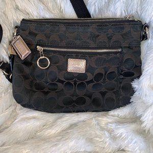 Classic Coach purse black brown